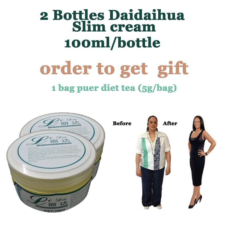 2 Bottles daidaihua extracts fat loss cream, old original spa slim cream, super weight loss slimming solution