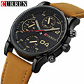 CURREN Men Watch Luxury Brand Menstwatches Leather Analog Quartz-Watch Casual Sport Male Clock Relogio Masculino 8207