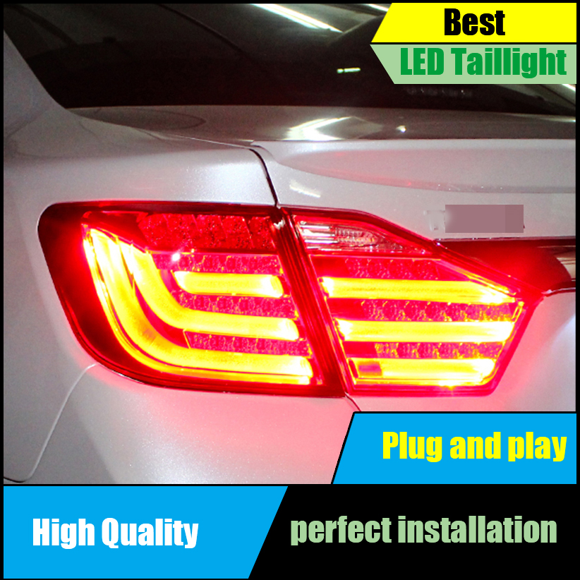 Car Styling Tail Lamps for Toyota Camry V50 Tail Lights 2012 2013 2014 LED Taillight Rear Lamp Driving+Brake+Park+Signal new car styling led rear lights kit modification for toyota camry 7th 2012 2013 2014 turning light high quality free shipping