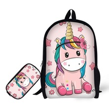 unicorn mochila escolar feminina backpack Pencil bag masculina school bags infantil sac dos menino rugzak menina kawaii 2018 foldable travel backpack flap pocket rugzak small duffle bags portable rucksack school bag mochila masculina a26
