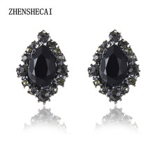 New Hot sale 2017 stud earrings glass crystal fashion earring vintage statement Earrings jewelry wholesale e0230(China)