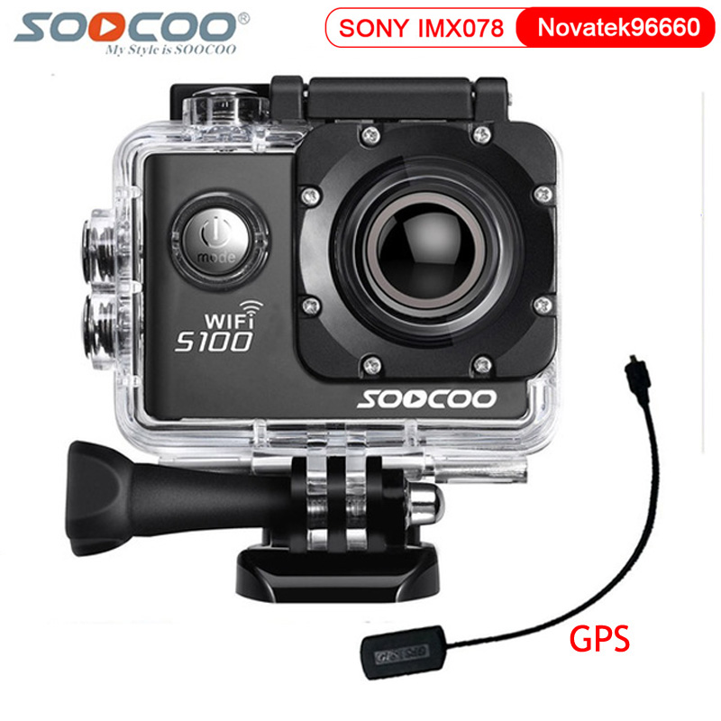 Original SOOCOO S100 Action Camera Ultra HD 4K Wifi NTK96660 Gyro Stabilizer GPS Extension Mode Waterproof 30M Sports DV soocoo s100 pro 4k wifi action video camera 2 0 touch screen voice control remote gyro waterproof 30m 1080p full hd sport dv