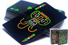 50PCS Luminous Fluorescent Poker Cards cool Black Glow Dark Bar Party Playing Collection Special board game