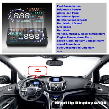 Car HUD Head Up Display For Ford C-Max C Max CMax 2010~2014 - Safe Driving Screen Projector Inforamtion Refkecting Windshield