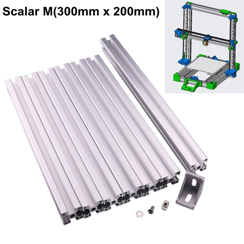 Système modulaire d'imprimante 3D Scalar M t-slot profilé d'extrusion en aluminium cadre en métal avec vis écrou de support