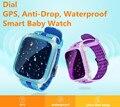 Ip67 à prova d' água gps smart watch para crianças cartão sim suporte Anti-perdido do Monitor SOS Criança Presente Grande Tela Smartwatch Telefone PK Q90