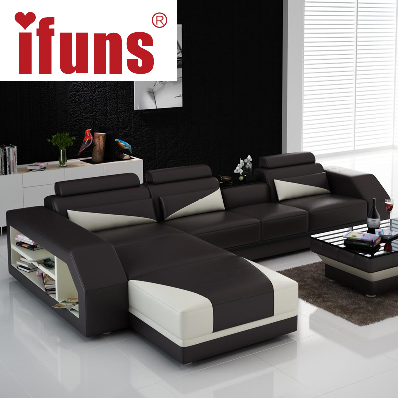 IFUNS Custom Made Classic Italian Leather Sofa,L Shaped Designs Heated Seat  Corner Sofa White Genuine Leather Living In Living Room Sofas From Furniture  On ...