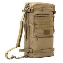 50L Multifunction Canvas Outdoor sports Military Tactical Rucksack travel Camping Hiking Backpack climbing bag shoulder Bag