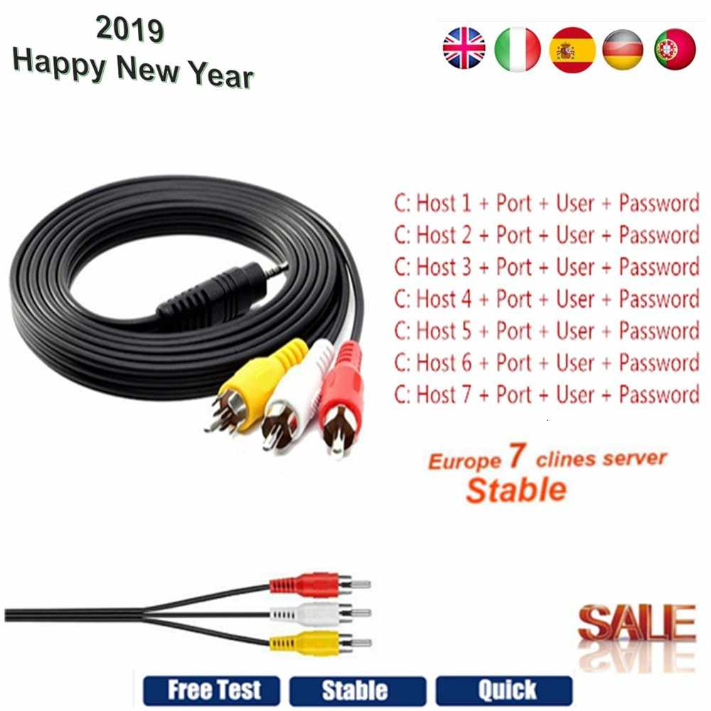 2019 Newest Fast Stable Europe 7 Cline Cccam For 1 Year Spain Portugal  Satellite Share Server Support DVB-S2 Satellite Receiver