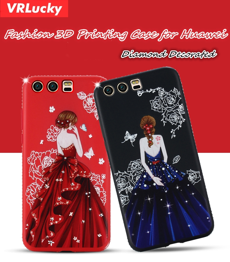 VRLucky Goddess Pattern For Huawei P20 P8 P9 P10 Lite 2017 Plus NOVA 2 2S Pro Honor 9 V9 V10 5X 6X 7X 6A Mate 8 9 Pro10 Case