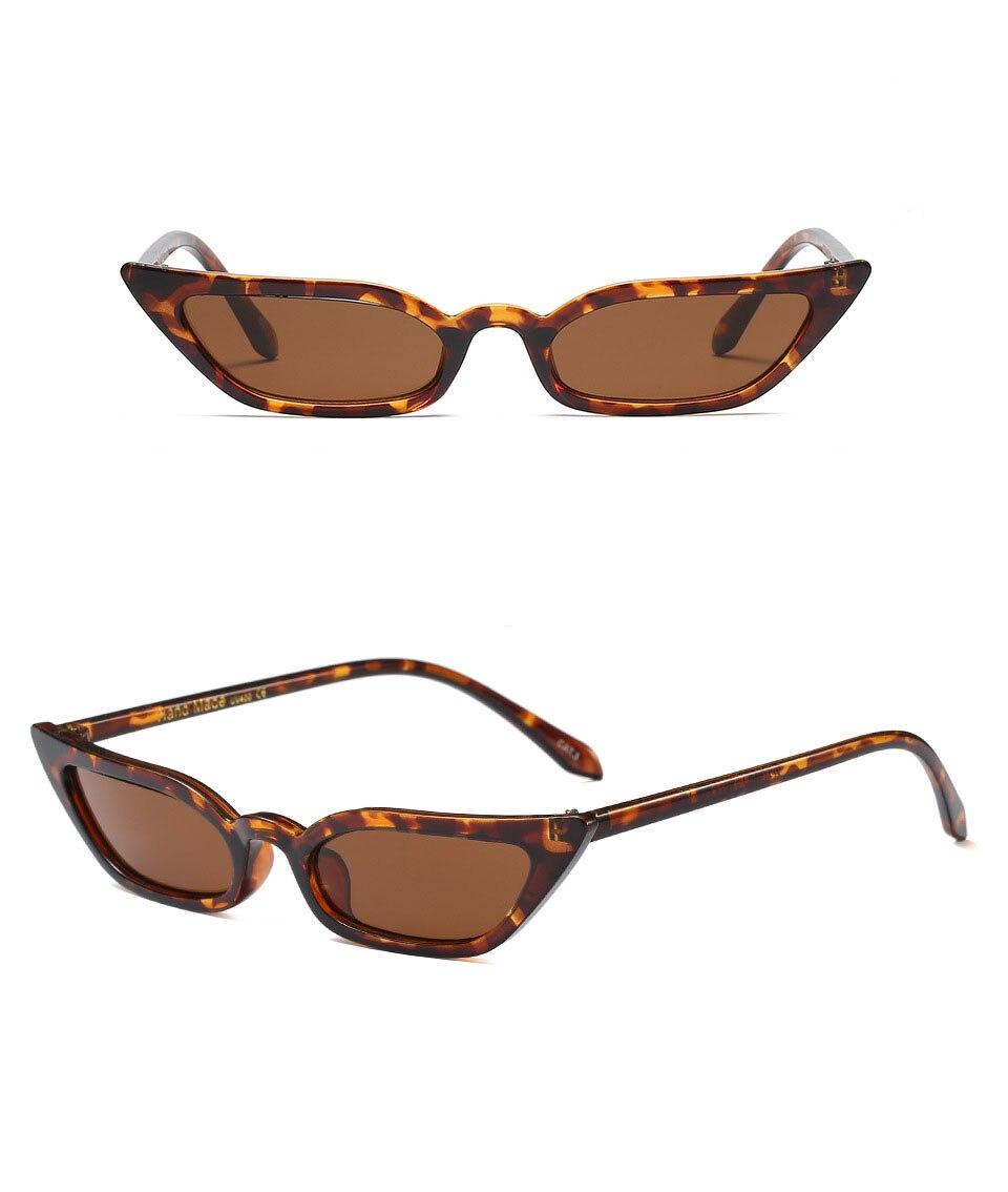 Women's Sunglasses Women's Glasses 2018 Chic Sunglasses Vintage Fashion Small Lens Women Men Uv400 Brand Designer 2019 Official