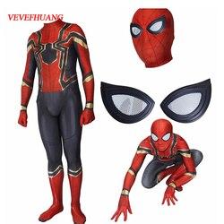 Vevefhuang super aranha herói do regresso a casa cosplay traje zentai ferro aranha herói super herói bodysuit terno macacões