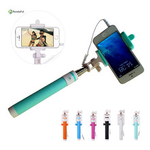 2016 New Mini Extendable handheld monopod selfie stick For iPhone HTC SONY Xiaomi meizu Oppo zte