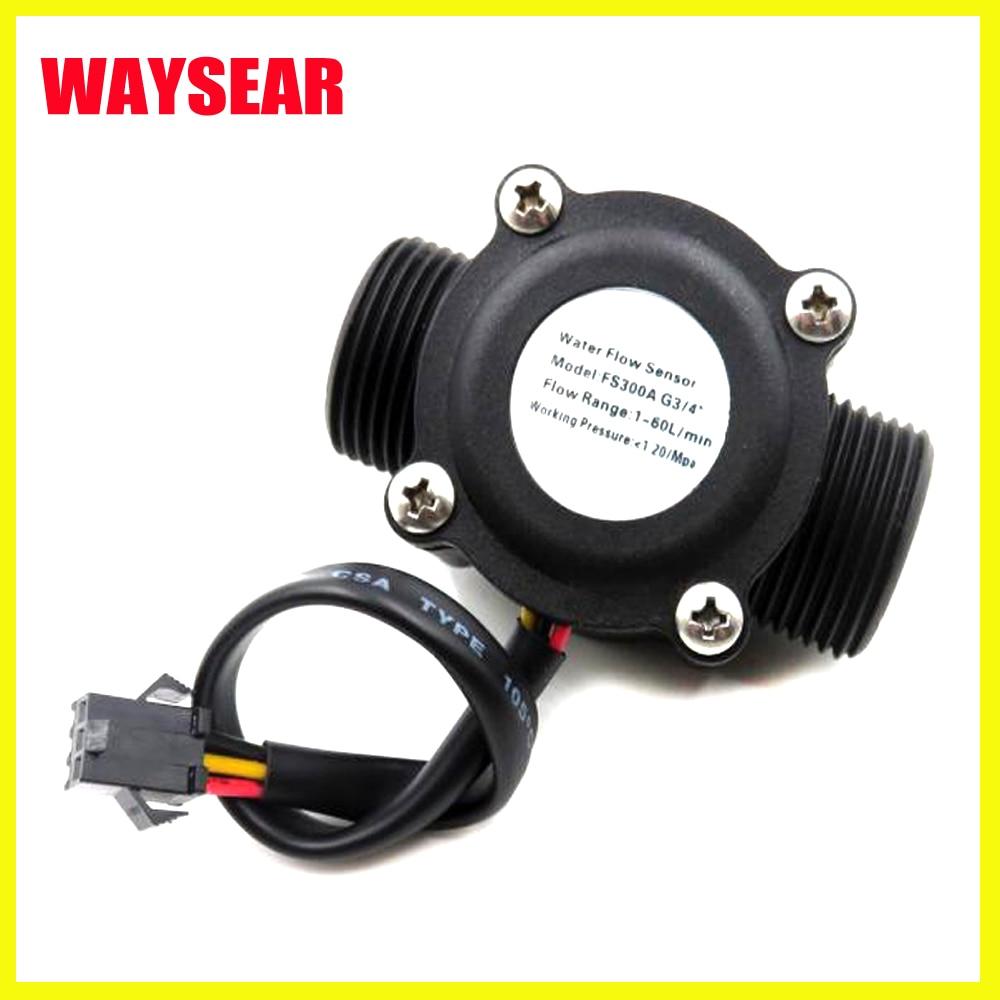 DN20 Pipe 3/4'' Water Flow Hall Sensor Hall Flowmeter , Flow Meter Control Water 1-60L/min Tools