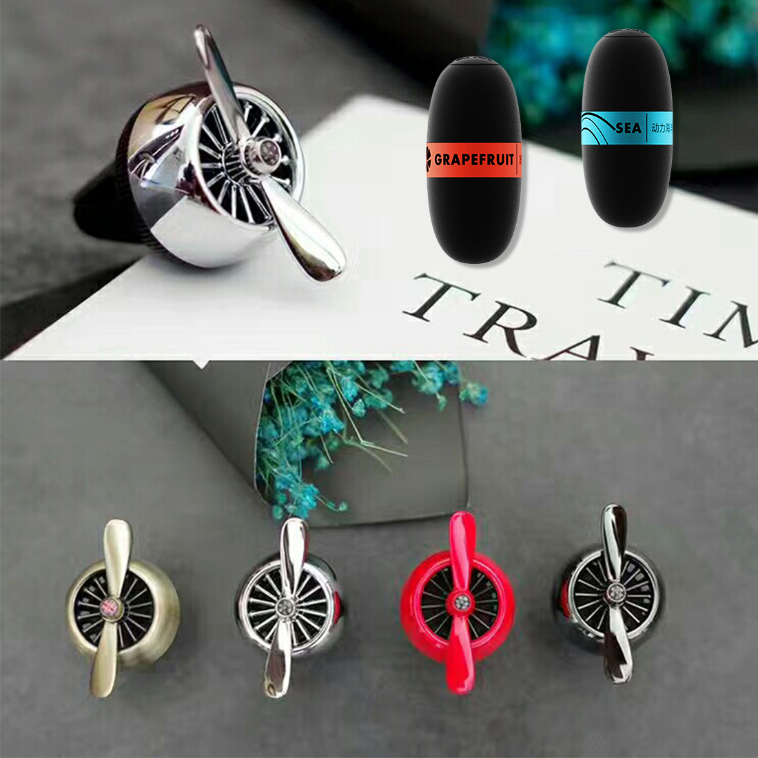 BU-Bauty hot sale car styling car accessories car air freshener air conditioner outlet vent clip car perfume AC scent