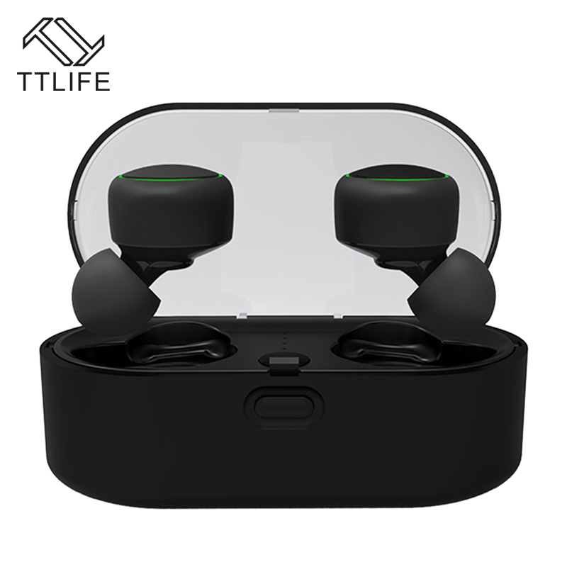 TTLIFE Mini Wireless Bluetooth Earbud New TWS Sport Music Earphone with Charging Box Headphone with Mic For Android Phone Xiaom ttlife bluetooth earphone s6 new wireless sport headset high fidelity music stereo headphone wiith mic for phone xiaomi original
