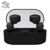 TTLIFE Mini Wireless Bluetooth Earbud New TWS Sport Music Earphone With Charging Box Headphone With Mic