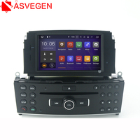 Asvegen HD Touch Screen GPS Navigation DVD Player For Mercedes Benz C200 C180 W204 2007 2010 Steering Wheel control multimedia