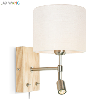 Simple modern Nordic solid wood Wall lamps lights bathroom bedroom light led wall lights for home industrial decor lamp