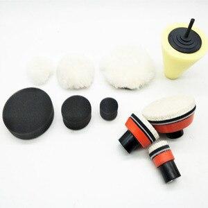 Image 4 - 1 de alta calidad, almohadilla de espuma de pulido fino de 2,3 pulgadas (3 almohadillas de espuma, 3 almohadillas de respaldo, 3 almohadillas de lana japonesas, 3 bolas de lana, 1 cono,