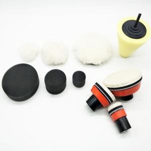 Image 4 - Alta quality1, 2,3 pollice macinazione fine polacco di lucidatura foam pad (3 imbottitura in espanso, 3 backing pad, 3 giapponese pad lana, 3 lana palla, 1cone shape,