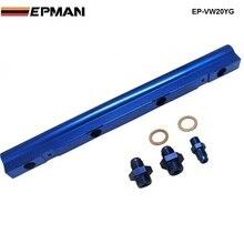 Для VW Audi 20 В 1.8 т Turbo алюминиевые заготовки Топ поток топливной форсунки Rail турбо комплект синий Высокое качество ep-vw20yg