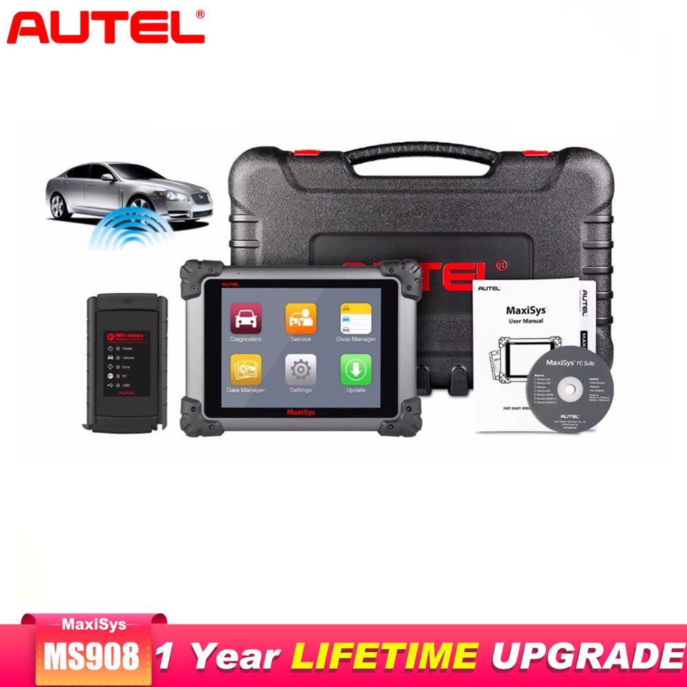Autel High End MaxiSys Pro MS908 OBD2 сканер автомобильный диагностический инструмент беспроводной инструмент для ремонта автомобиля программный сканер а