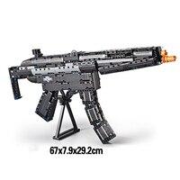 Brands Toy 621pcs Building Block Brick Gun M4A1 Airsoft Air Guns And MP5 Toy Submachine Gun Kids Outdoor Game Model CS Cosplay