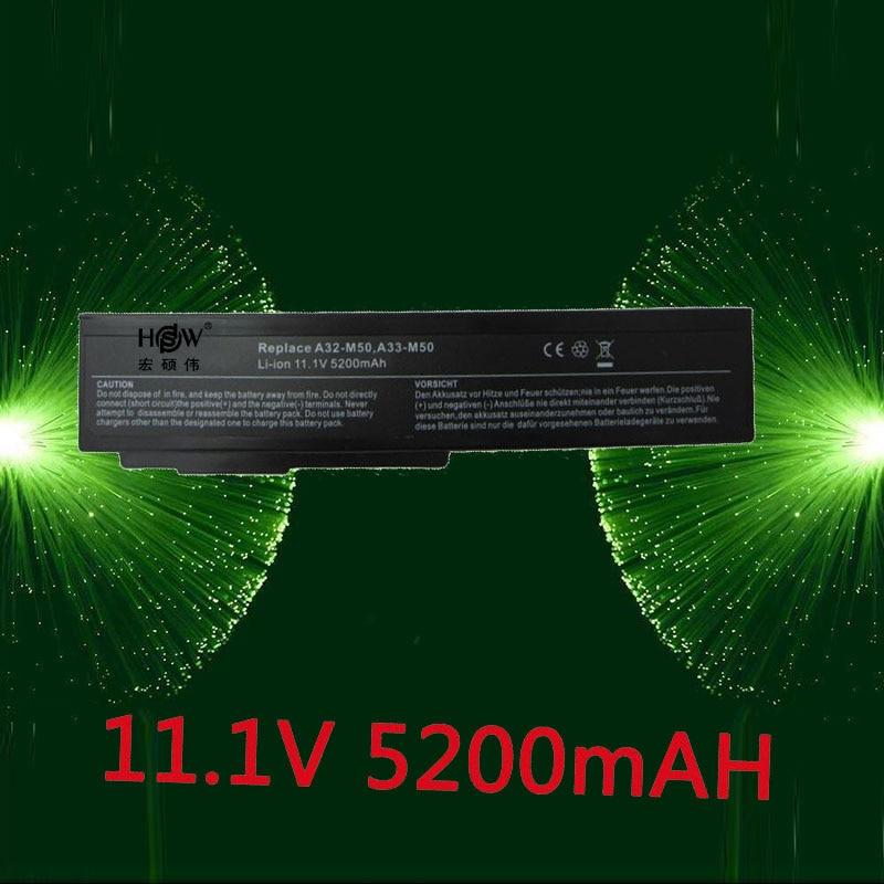 HSW 5200 mah Batterie D'ordinateur Portable pour Asus N53S N53SV A32-M50 A32-N61 A32-X64 N53 A32 M50s A33-M50 N61 N61J N61D N61V n61VG N61JA N61JV