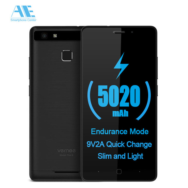 Vernee Thor E Quick Charge MTK6753 Octa Core   Cellphone 5.0 Inch Fingerprint 3GB RAM 16GB ROM Smartphone 4G Mobile Phone