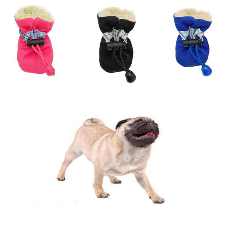 4 stks Waterdichte Winter Hond Schoenen antislip Regen Snowboots schoeisel Dikke Warme Voor Kleine Katten Honden Puppy Hond Sokken Booties