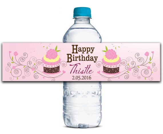 Us 29 8 Personalized Water Bottle Labels Baby Shower Birthday Favors Gifts Tags Personalised Candy Stickers Customized Birthday Cake In Party Diy