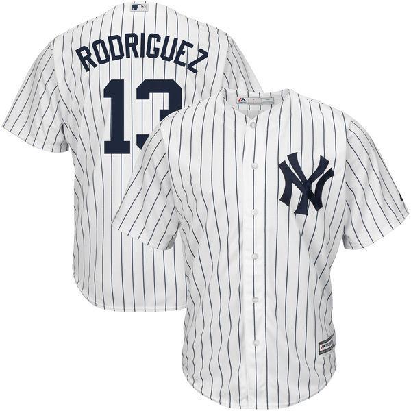 MLB Для мужчин Нью-Йорк Янкиз Алекс Родригес Бейсбол белый/темно-дома Big & Tall Прохладный База плеер Джерси ...