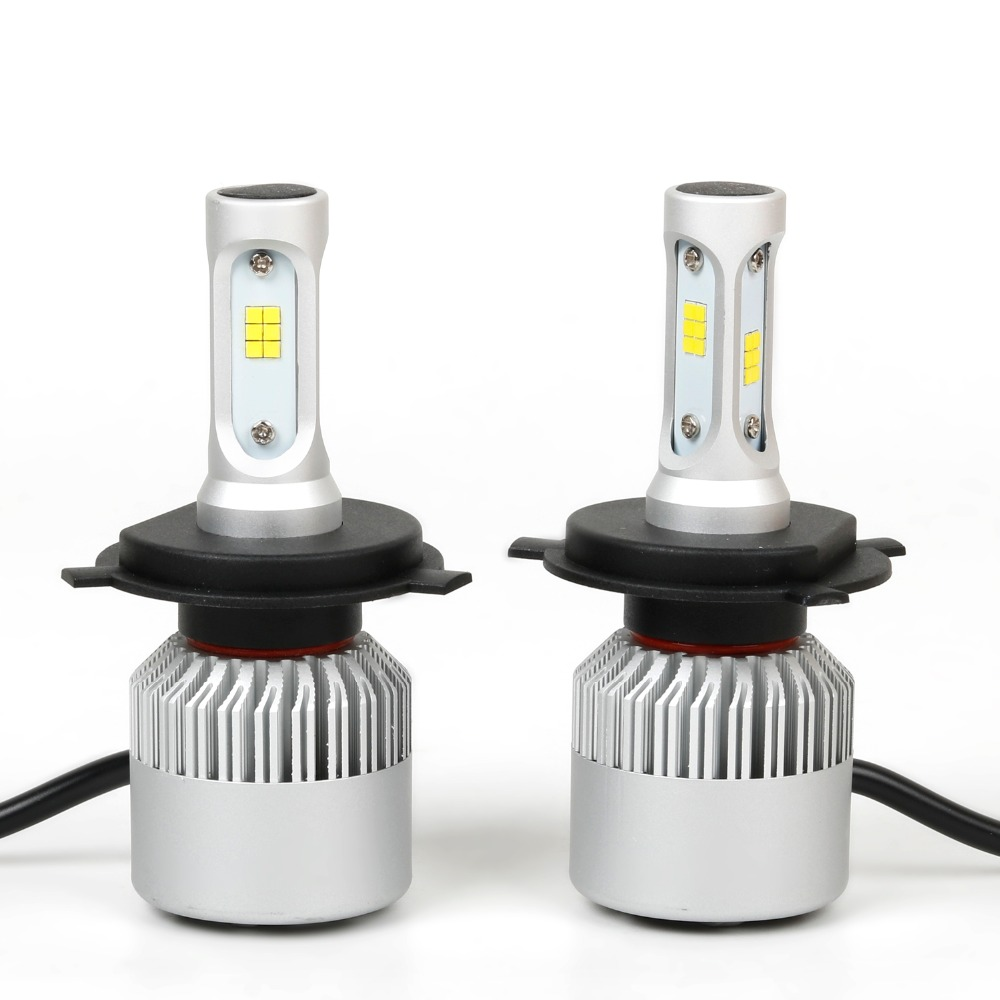 ФОТО NEW  COB  Auto LED Car Headlight 6500K 8000LM 12V H1 H3 H4 H7 H8 H13 9005 9006 HB4 HI-Lo Beam  Automobiles Lamp fog light