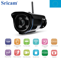 Italy Local Free Shipping Sricam SP007 WiFi Cam For Home Security 720 HD Wireless IP Camera