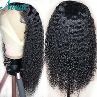 NYUWA Lace Front Human Hair Wigs Brazilian Curly Lace Front Wigs Pre Plucked For Black Women Remy Hair Lace Wigs With Baby Hair
