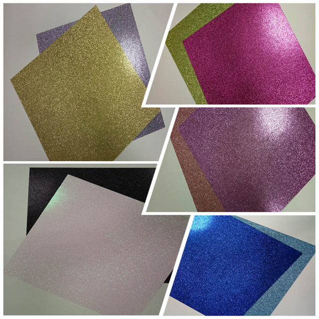 Silver Gold Green Red Purple Pink Glitter Craft Scrapbook Paper Gift