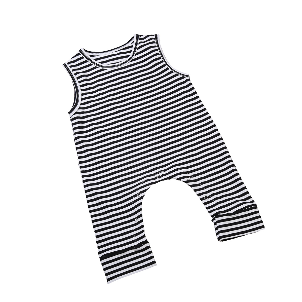 Toddler Infant Newborn Baby Girl Boy Summer Stripe Romper Sleeveless Jumpsuit Harem Pants Kids Outfits Clothes