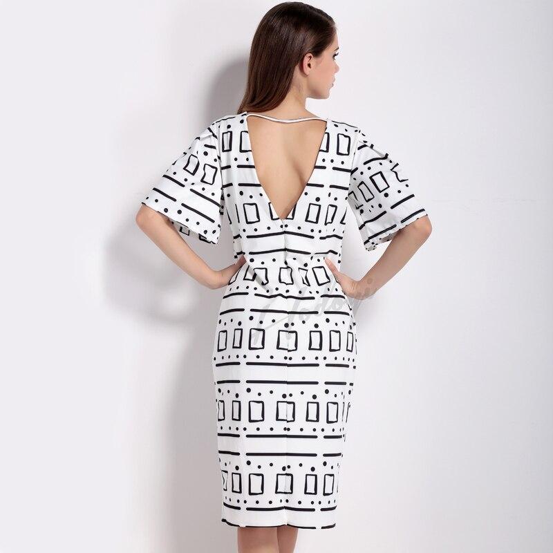 Summer new Europe Geometric pattern printing font b fashion b font Sexy back hollow Simple thin