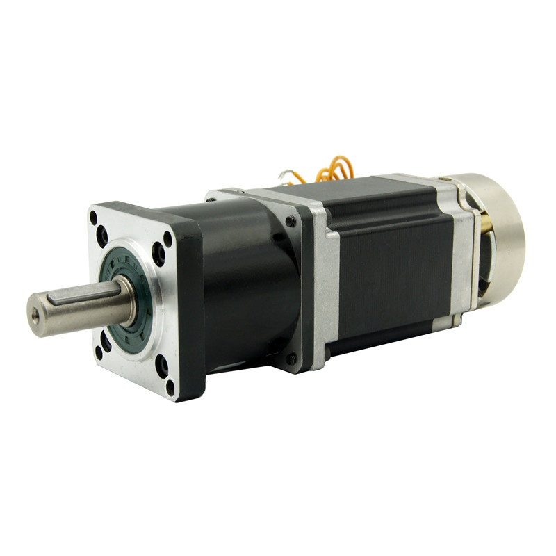 NEMA23 Planetary reducer stepper motor with brake 4:1/5:1/10:1/16:1/20:1/25:1/40:1/50:1/100:1 ratio Motor length 76mm 3A 4wireNEMA23 Planetary reducer stepper motor with brake 4:1/5:1/10:1/16:1/20:1/25:1/40:1/50:1/100:1 ratio Motor length 76mm 3A 4wire