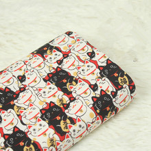 half meter Japanese soft breeze cartoon cat printing fabric, handmade DIY patchwork mouth gold package cloth CR-A15