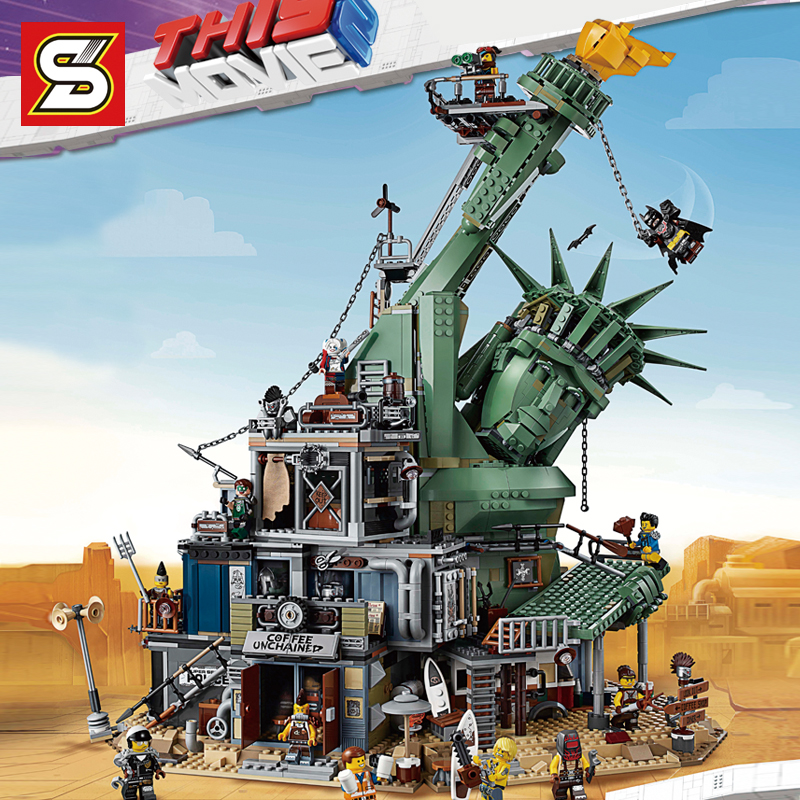 DHL S Film Série Bienvenue À APOCALYPSEBURG Compatible Legoing 70840 Ensemble blocs de construction Briques bricolage Jouets D'anniversaire De Noël
