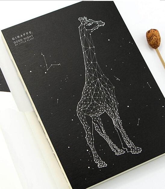 Giraffe Hard Cover Design Diary Artist Notebook Sketchbook