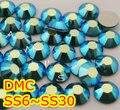 Ss6, ss10, ss16, ss20, esmeralda ss30 AB alta calidad DMC hierro en cristal Rhinestones / Rhinestones calientes cristalinos del arreglo