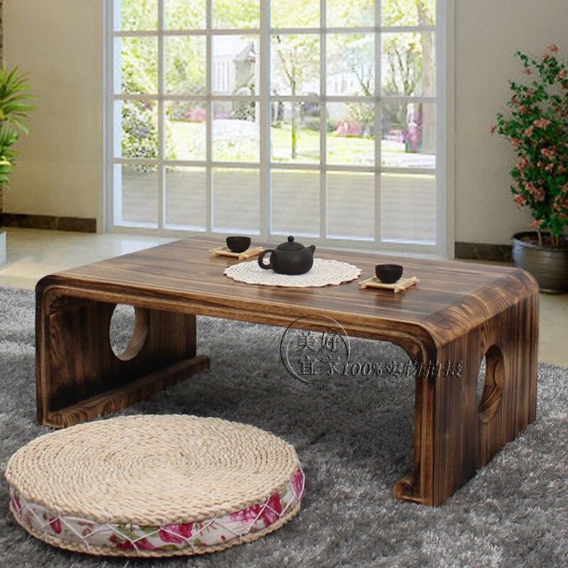 Бесплатная доставка дерево татами кофейный столик эркер стол.