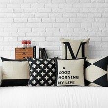 Fundas de cojines de sofá Sweetenlife al por mayor 50*50 45*45 funda de almohada cojines geométricos decoración del hogar cojín decorativo Vintage