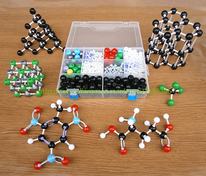 Molecular structure model set for Chemistry teacher DLS-23540 chemical crystal models inorganic /organic molecules free shipping green analytical chemistry 56