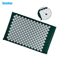 Sumifun Acupressure Mat Massage Cushion for Back/Neck Pain Relief and Muscle Relaxation Pain Relieve Points Dark Green C1191