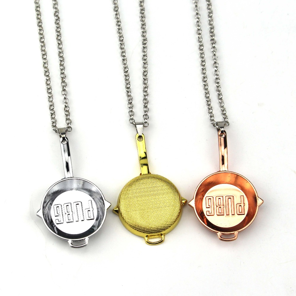 Game Playerunknown's Battlegrounds Necklace Eat Chicken WINNER PUBG PAN Metal Chains Pendant Necklace image