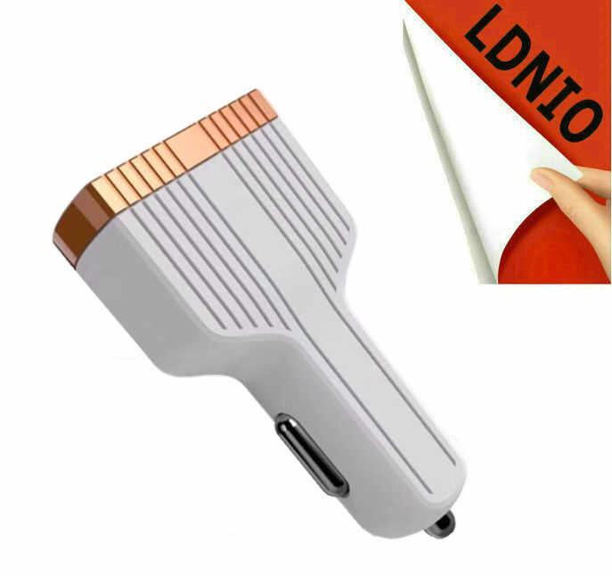 LDNIO العالمي بطارية 5 فولت 3A تهمة سريعة 3.0 3-Port الذكية USB شاحن سيارة ل غالاكسي S7/S6/حافة/زائد نوت 5/4 الأبيض